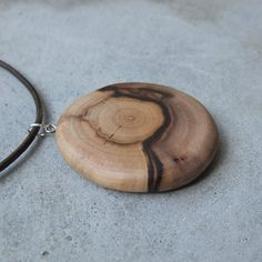 Wooden necklace Chrysoprase & wood the by NaturesArtMelbourne