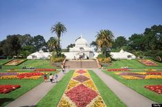The Conservatory of Flowers in Golden Gate Park is always impeccably manicured and gorgeous.