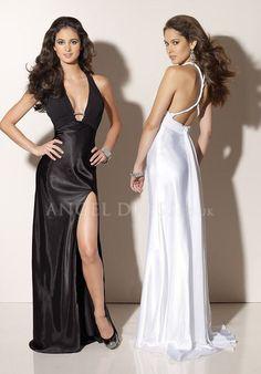 Sheath/ Column Halter Elastic Silk Like Satin Empire Floor Length With Ruching Evening Gown