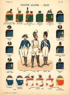 Великое герцогство Баден. Союзные войска. Uniformes de I'Armee Francaise 1690-1894 Lienhart & Humbert