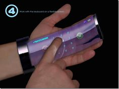 A phone you roll out from your wrist.