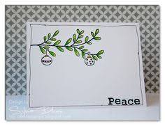 christmas card by @Sylvia Blum  stamps: Hero Arts  #HeroArts #stamping #OLC #CAS #Tombow #cardmaking #crafts