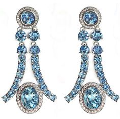 Aquamarine and Diamond Earrings, Janet Deleuse, only one www.deleuse.com