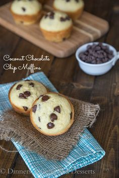 Coconut Chocolate Chip Muffins {Dinners, Dishes, and Desserts} #silkcoconut @Silk