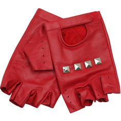 Fingerless leather gloves (355 MXN) ❤ liked on Polyvore featuring accessories, gloves, red, luvas, rukavice, leather gloves, red gloves, fingerless leather gloves, asos and real leather gloves