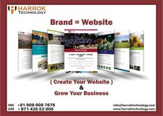 Create your Website and grow your Business with Harrok Technology Call Now: *We are here for your Branding* Special Offer For your Website Our company offers exceptional quality Digital Marketing services to build your online presence and branding