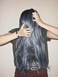 Bluish Grey hair