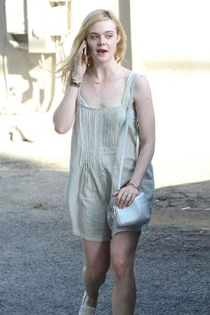 Elle Fanning – Out in West Hollywood, June 2015 Ellie Fanning, Fanning Sisters, Dakota And Elle Fanning, Expressions Photography, Cute Girl Photo, Overall Shorts, Sexy Outfits, Girl Photos, Sexy Women