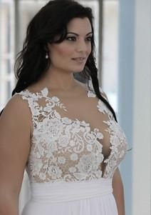 PS - Sexy plus size bridal dresses custom made to order by Darius