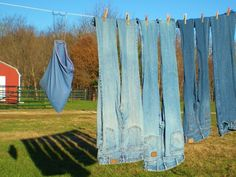 I always have ample supply of denim around the ranch to make no-sew denim coasters.  EASY!  #TaylorMadeRanch