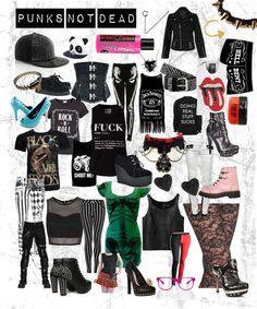 Designer Clothes, Shoes & Bags for Women Teen Fashion, Fashion Outfits, American Idiot, Pop Punk, Rock N Roll, Grunge, Alternative, Bands, Outfit Ideas