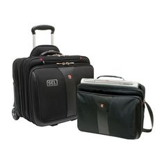 """Wenger - PATRIOT 2-Piece Business Set Premium construction and an upgraded removable laptop case make the 2-in-1 Patriot the complete package 17""""W x 15.5""""H x 11.5""""D - Price: $126.00/ea (Qty: 95)"""