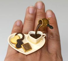 Etsy Transaction - Kawaii Japanese Floating Ring - Chocolates for the Chocolate Lovers
