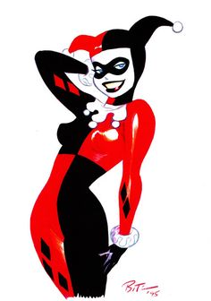Harley Quinn by Bruce Timm Harley Quinn Tattoo, Harley Quinn Drawing, Joker And Harley Quinn, Gotham City, Harely Quinn, Univers Dc, Gotham Girls, Batman The Animated Series, Bruce Timm