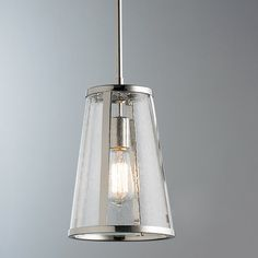 Check out Seeded Glass Transitional Mini Pendant Light from Shades of Light