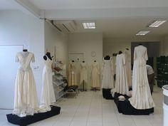 Exposição de vestidos de noiva do acervo da Modateca/UDESC - setembro de 2014