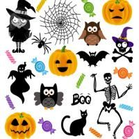 Printable Halloween Stickers - Printable Scrapbook - Free Printable Crafts. Perfect for Halloween! Give a like!