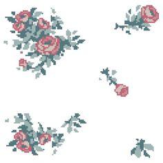 Pixel Floral Sticker Sheet