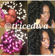 Crochet braids curled looking natural and fabulous. Pic from @tricediva instagram