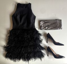 MILLY feather dress #partygirl #millyny