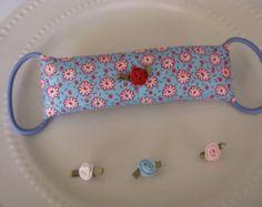 Door Jammer, Door latch Cover, Door Stopper, Red, White, Blue, Flowers Pattern, Anti Slam Door Cushion