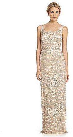 Sue Wong Sleeveless Soutache Gown on shopstyle.com