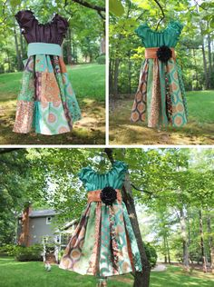 Birds and Berries dresses made with fabric by Lauren and Jess Jug