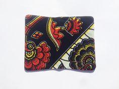 Protège carnet en wax tissu à motif africain multicolore