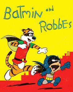 Batman and Robin In The Style Of Calvin And Hobbes! I want to marry Robin-DG! Calvin And Hobbes Comics, Im Batman, Batman Robin, Batman Stuff, Batman Art, Beste Comics, Comic Art, Comic Books, Nananana Batman