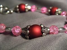 Radiant Pet Necklace in red and pink by AllAboutElegance on Etsy, $30.00