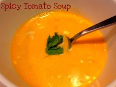 Spicy Tomato Soup to serve with the bacon egg and cheese bread from the amish market