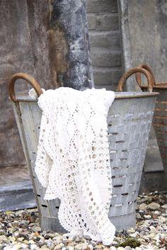 Galvanized olive basket