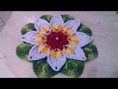 Vamos agora fazer flores em crochê para aplicação com Cristina Coelho Alves - YouTube