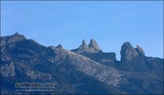The view of Mount Kinabalu peaks from the eastern-side of the mountain, in the low-lying valley of Mesilau. Mount Kinabalu, Sea Level, Borneo, Natural World, Monument Valley, Mount Everest, Exotic, Tropical, Mountains