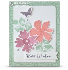 CARD: Best Wishes from Blooms and Wishes | Stampin Up Demonstrator - Tami White - Stamp With Tami Crafting and Card-Making Stampin Up blog