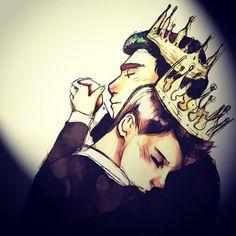 Klaine: Prom Kings #glee #fanart