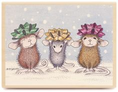 Christmas mice i have some of these mice  I love this!!!!!1