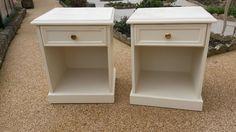 Pair of bedside cabinets, painted with Rustoleum chalk paint 'clotted  cream' | in Bournemouth, Dorset | Gumtree