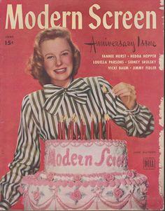 June Allyson on the June 1945 Modern Screen