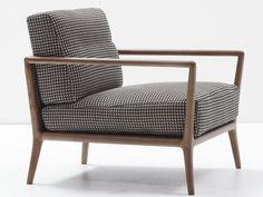 Sillón tapizado CARLTON by Nube Italia diseño Marco Corti #armchair