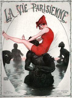 Georges Léonnec illustration for the Aug 24 1918 issue of La Vie Parisienne