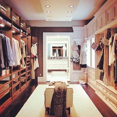 Need more closet space? How about this spectacular his and hers walk in closet? Let us help you find the home of your dreams with the closet of your dreams! Walking Closet, Big Closets, Dream Closets, Huge Closet, Girl Closet, Girls Dream Closet, Classy Closets, Walk In Closet Design, Closet Designs