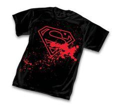 Superman Splatter Logo Black T-Shirt
