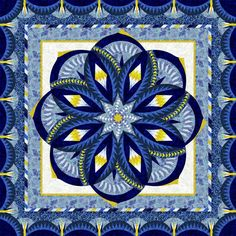 Check out this original color-way designed by Susan . Sign up on www.quiltster.com to create your own.