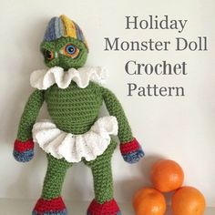 Changed my mind and released this #crochet #pattern without the people sized hat. Read all about it. Link in profile and click BLOG. #crochetdoll #doll #crochetersofinstagram #artdoll #diy #dollmaking #amigurumi #monster #threadcrochet #monstercrochet #monstermaker #KnotByGranma