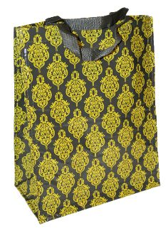 Brocade-style eco-friendly tote. Functional and fashionable.