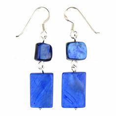 Blue Earrings (Shell Beads)