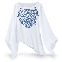 Ikat Nirvana Top - New Age, Spiritual Gifts, Yoga, Wicca, Gothic, Reiki, Celtic, Crystal, Tarot at Pyramid Collection