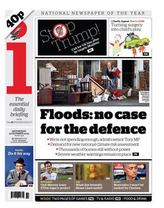 """""""Wednesday's i front page - Floods: no case for the defence Play 1, Bbc, Wednesday, December, Twitter, Paper"""