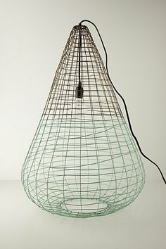 Woven Wire Pendant Lamp #anthropologie